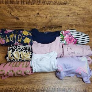 Lot of 9 Long sleeve t shirt tunic girls